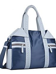 baratos -Homens Bolsas PVC Tote Ziper Azul / Amêndoa