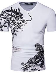 baratos -Homens Camiseta Temática Asiática Animal