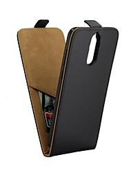 Недорогие -Кейс для Назначение Huawei Mate 10 lite Бумажник для карт / Флип Чехол Однотонный Мягкий Кожа PU для Mate 10 lite
