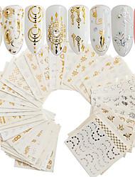 Недорогие -30 pcs Стикеры маникюр Маникюр педикюр Модный дизайн Наклейки для ногтей На каждый день / фестиваль