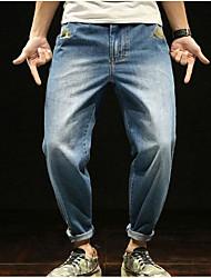 abordables -Hombre Vintage Vaqueros Pantalones - Un Color