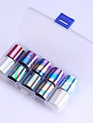 Недорогие -10 pcs Стикеры маникюр Маникюр педикюр Цветной Наклейки для ногтей На каждый день / фестиваль