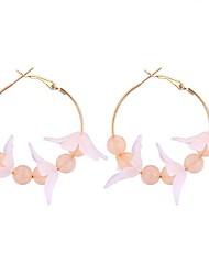 cheap -Women's Hoop Earrings - Flower Stylish White / Black / Light Coffee For Date / Birthday