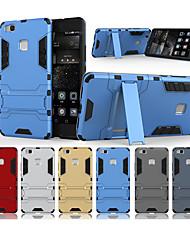 Недорогие -Кейс для Назначение Huawei P9 Lite со стендом Кейс на заднюю панель Однотонный Твердый ПК для Huawei P9 Lite