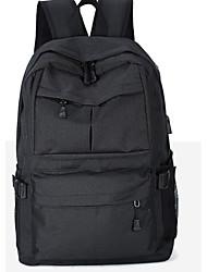 Недорогие -Универсальные Мешки холст рюкзак Молнии Черный / Серый / Лиловый