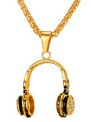 preiswerte -Herrn Lang Anhängerketten - Edelstahl Modisch Gold, Silber 55 cm Modische Halsketten 1pc Für Geschenk, Alltag