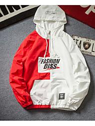 Недорогие -Муж. Куртка Классический - Контрастных цветов / Буквы