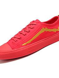 Недорогие -Муж. Полотно Лето Удобная обувь Кеды Белый / Черный / Красный