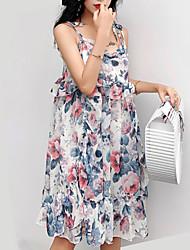 povoljno -ženska plaža tanka linija haljina koljena dužina remen