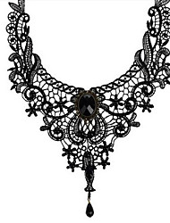 preiswerte -Damen Sektor Y Halskette - Spitze Blume Modisch Schwarz 42 cm Modische Halsketten 1pc Für Alltag