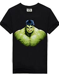 baratos -Homens Camiseta Básico Estampado, Estampa Colorida / Letra / Retrato