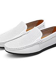 abordables -Homme Chaussures Cuir Eté Moccasin Mocassins et Chaussons+D6148 Blanc / Noir / Marron