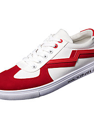cheap -Men's Canvas Spring / Fall Comfort Sneakers Color Block Red / Black / Red / White / Green