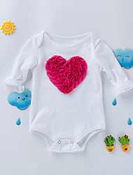 cheap -Baby Girls' Solid Colored Long Sleeve Bodysuit