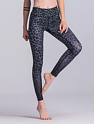 cheap -Women's Sporty Legging - Leopard, Print High Waist