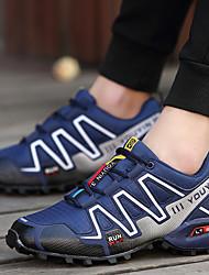 abordables -Homme Chaussures de Randonnée / Chaussures de montagne Gomme Camping / Randonnée Léger, Antidérapant, Respirable Filet / Cuir synthétique Bleu / Noir / Rouge / Gris