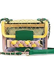 baratos -Mulheres Bolsas PVC / PU Conjuntos de saco 2 Pcs Purse Set Botões Branco / Amarelo / Arco-íris