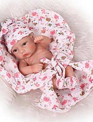 cheap -NPKCOLLECTION Reborn Doll Baby Boy / Baby Girl 12 inch Full Body Silicone / Silicone / Vinyl - lifelike, Artificial Implantation Brown Eyes Kid's Unisex Gift