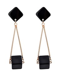 cheap -Women's Long Drop Earrings - Stylish, Classic Gold / Silver For Daily