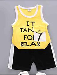 cheap -Baby Unisex Print / Color Block Sleeveless Clothing Set