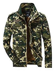 Недорогие -Муж. Куртка Армия - камуфляж С принтом