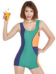 cheap -Dive&Sail Women's One Piece Swimsuit Chlorine resistance, Outdoor, High Elasticity Nylon / Elastane Sleeveless Swimwear Beach Wear Bodysuit Patchwork Outdoor