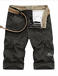 cheap -Men's Military Chinos Pants - Solid Colored