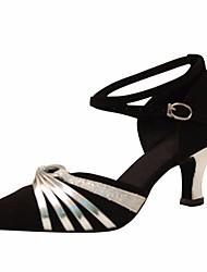 cheap -Women's Modern Shoes Satin Heel Slim High Heel Dance Shoes Silver / Performance / Practice