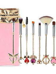 baratos -8pçs Pincéis de maquiagem Profissional Conjuntos de pincel Fibra de Nailom Amiga-do-Ambiente / Macio Liga de Alúminio 7005