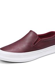 Недорогие -Муж. Полиуретан Лето Удобная обувь Мокасины и Свитер Черный / Серый / Коричневый