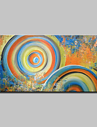 cheap -Oil Painting Hand Painted - Abstract / Pop Art Modern Canvas