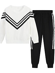cheap -Adults / Kids Mommy and Me Striped Long Sleeve Clothing Set
