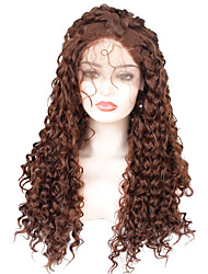 cheap -Synthetic Lace Front Wig Curly Ombre Bob Haircut / Pixie Cut Synthetic Hair Party / Synthetic / Ombre Hair Dark Brown / Ombre Wig Women's Long Lace Front / African American Wig / Yes