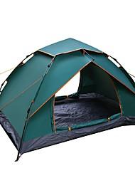 Недорогие -Sheng yuan 2 человека Туристические палатки На открытом воздухе С защитой от ветра, Дожденепроницаемый, Воздухопроницаемость Двухслойные зонты Автоматический Палатка 1500-2000 mm для