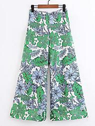 cheap -Women's Basic Wide Leg Pants - Geometric