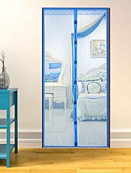abordables -Puerta Panel Cortinas cortinas Cocina Un Color Algodón / Poliéster Estampado reactivo