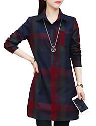cheap -women's going out shirt - plaid shirt collar