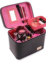 baratos -PU Leather / Tecido Oxford Retângular Fofo Casa Organização, 1pç Armazenamento de Maquiagem