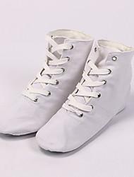 Недорогие -Жен. Обувь для джаза Полотно Кроссовки На плоской подошве Танцевальная обувь Белый / Черный / Красный
