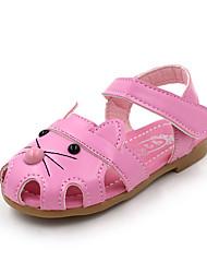 Недорогие -Мальчики Обувь Полиуретан Лето Удобная обувь Сандалии Для прогулок для Дети (1-4 лет) Белый / Пурпурный / Розовый