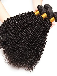 cheap -4 Bundles Indian Hair Kinky Curly Human Hair Cosplay Suits / Headpiece / Natural Color Hair Weaves / Hair Bulk 8-28 inch Natural Color Human Hair Weaves Life / Hot Sale / Cool Human Hair Extensions