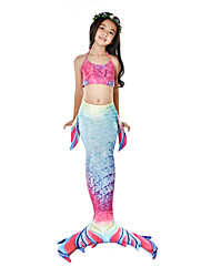 preiswerte -Die kleine Meerjungfrau Bademode / Bikini / Kostüm Mädchen Halloween / Karneval Fest / Feiertage Halloween Kostüme Rosa Meerjungfrau Retro