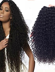 cheap -Brazilian Hair Curly Natural Color Hair Weaves / Extension 3 Bundles 8-28 inch Human Hair Weaves Machine Made Hot Sale / 100% Virgin / curling Natural Black Human Hair Extensions Women's