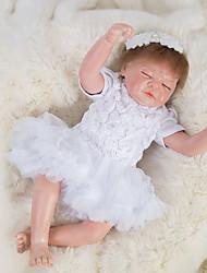 Недорогие -OtardDolls Куклы реборн Девочки 18 дюймовый как живой Ручные прикладные ресницы Гофрированные и запечатанные ногти Детские Девочки Игрушки Подарок / Естественный тон кожи / Головка дискеты