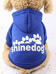 cheap -Dogs / Cats / Furry Small Pets Hoodie / Sweatshirt / Outfits Dog Clothes Animal / Letter & Number Red / Pink / Black Cotton Costume For Pets Female Sports & Outdoors / Casual / Sporty
