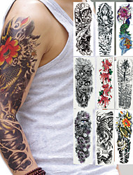 Недорогие -2 pcs Временные татуировки Тату с тотемом / Тату с цветами Безопасность Искусство тела рука / Временные татуировки в стиле деколь