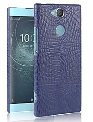 Недорогие -Кейс для Назначение Sony Xperia XZ2 Compact / Xperia XZ2 С узором Кейс на заднюю панель Однотонный Твердый ПК для Sony Xperia Z5 / Z5 Mini / Xperia XZ2
