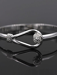 cheap -Women's Bangles - Sterling Silver Flower Bracelet Silver For Wedding / Party / Daily