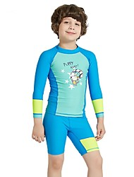 cheap -Boys' Rash Guard Dive Skin Suit UV Sun Protection, Quick Dry, Breathable Nylon / Spandex Long Sleeve Swimwear Beach Wear Sun Shirt Patchwork Surfing / Snorkeling / Water Sports / Stretchy