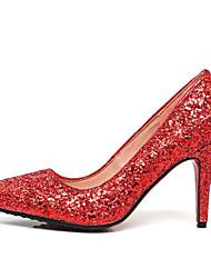 economico -Per donna Scarpe Sintetico Primavera Comoda / Decolleté scarpe da sposa A stiletto Oro / Argento / Rosso / Matrimonio